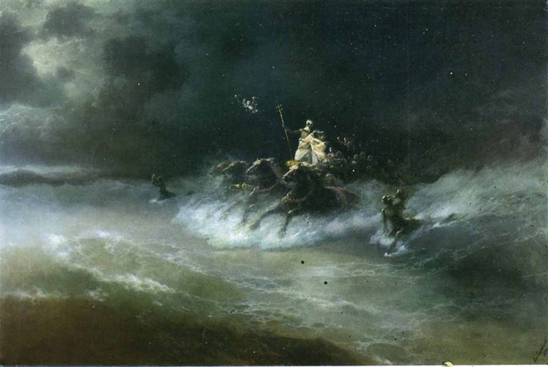 Aivazovsky : La promenade de Poséidon, 1894